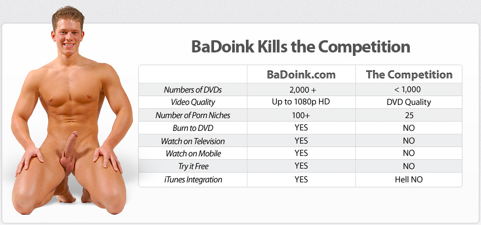 BaDoink kills the competition with over 10,000 HD DVDs!